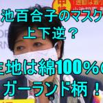 【画像】小池百合子のマスクは上下逆で大きい?生地は綿100%で1枚85円!