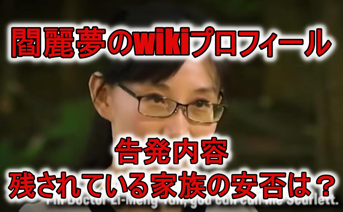 閻麗夢wikiプロフィール