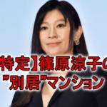 """篠原涼子の""""別居""""マンションを特定?広尾と川越の自宅の場所も調査!"""