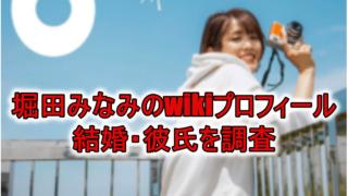 堀田みなみwiki結婚彼氏