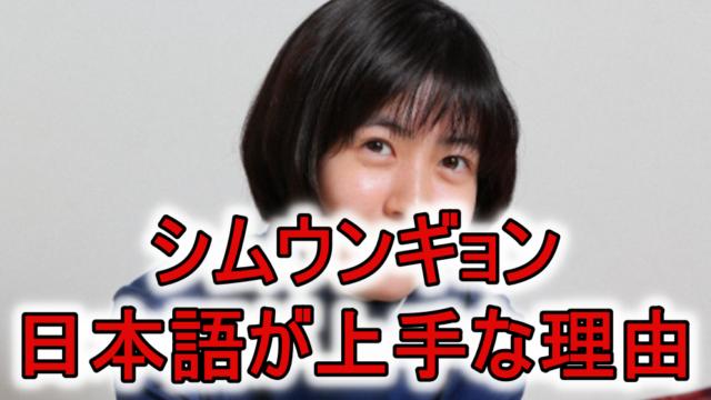 シムウンギョンの日本語力