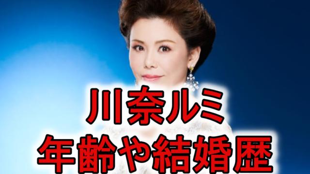 川奈ルミ何歳年齢結婚歴