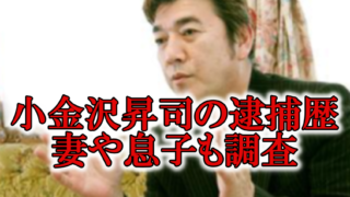 小金沢昇司逮捕薬物と妻息子