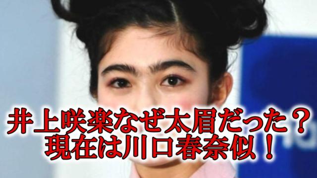 井上咲楽眉毛細く画像川口春奈
