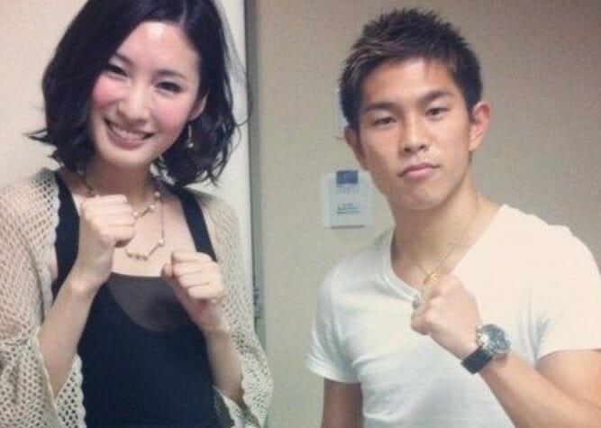 井岡一翔の嫁元モデルと谷村奈南