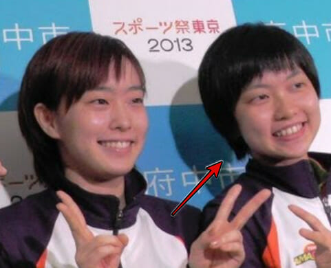 石川佳純の妹の目かわいい
