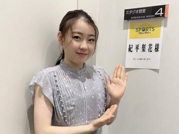 紀平梨花ワキ毛画像カップ
