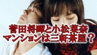 菅田将暉と小松菜奈マンション