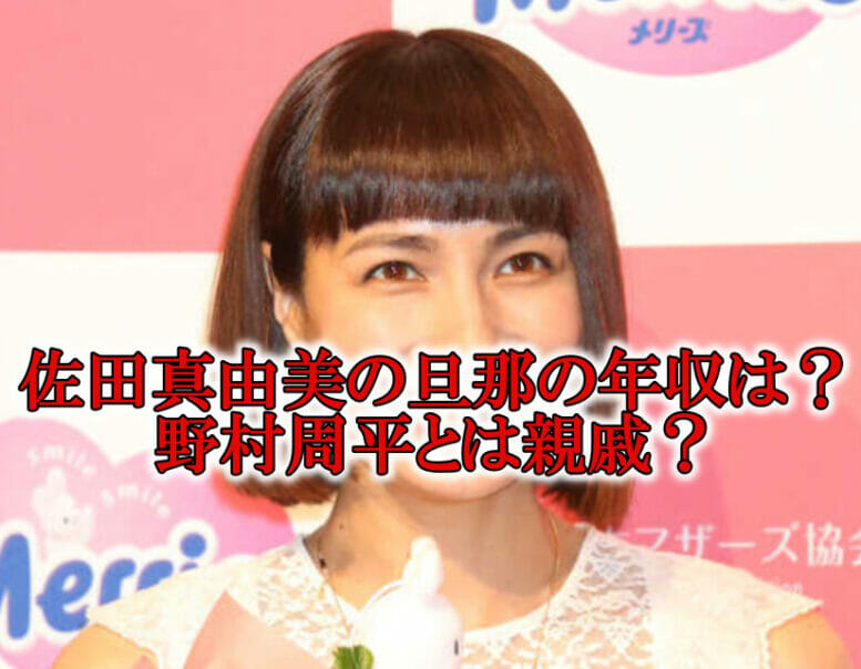 """<span class=""""title"""">【顔画像】佐田真由美の夫(旦那)は野村訓市で年収は?野村周平とは親戚?</span>"""